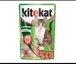 Влажный Корм Kitekat (Китекат) Для Кошек Кролик в Соусе 100г (1*24)