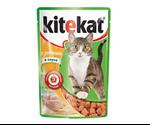 Влажный Корм Kitekat (Китекат) Для Кошек Курица в Соусе 100г (1*24)