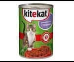 Консервы Kitekat (Китекат) Для Кошек Домашний Обед с Печенью 410Г