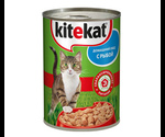 Консервы Kitekat (Китекат) Для Кошек Домашний Обед с Рыбой 410Г
