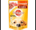 Влажный Корм Pedigree (Педигри) Vital Protection Для Собак Говядина в Соусе 100г