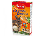 Витамины для Грызунов Sanal (Санал) Carrot Drops Дропсы Морковь 45г