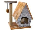 Домик Когтеточка Для Кошек с Полкой Сизаль 61,5*42,5*55см Rp8104с