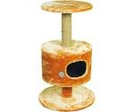 Домик Когтеточка Для Кошки Круглый На Подставке Мех 51*86см Зооник 2206