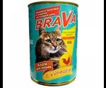 Консервы Brava (Брава) Для Кошек Курица 415г
