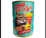 Консервы Brava (Брава) Для Кошек Мясо 415г