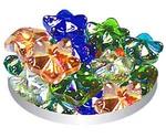 Грунт Для Аквариума Triton (Тритон) Стеклянный №96 Морские Звезды Цветные 10шт