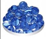 Грунт Для Аквариума Triton (Тритон) Стеклянный Круглый Прозрачный Голубой 50шт №16