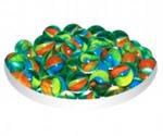 Грунт Для Аквариума Triton (Тритон) Стеклянный Круглый Радужный Зеленый 50шт №18