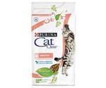 Сухой Корм (Кэт Чау) Для Кошек с Чувствительным Пищеварением Птица и Лосось Adult Sensitive 1,5кг