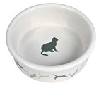 Миска Для Кошек Trixie (Трикси) Керамическая с Рисунком Кошки 250мл Ф11 4019