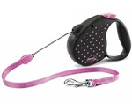 Рулетка Для Собак Средних Пород Flexi (Флекси) Color Medium Трос 5м До 20кг Розовый
