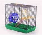 Клетка Вака Для Джунгариков Малыш-2 С Миской И Колесом 260*145*230