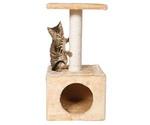 Домик Когтеточка Для Кошки Trixie (Трикси) Zamora Бежевый 31*31*61см 43351