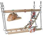 Лестница Trixie (Трикси) Для Хомяка Подвесная Двойная с Веревкой 27,5*10,5*16см Дерево 6273