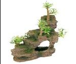 Грот Для Аквариума Trixie (Трикси) Каменная Лестница с Растениями Пластик 19,5см 8852