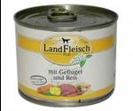 Консервы Dr.Alders (Доктор Алдерс) LandFleisch Ландфляйш Для Собак Деревенское Мясо Птица с Рисом  195г