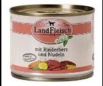 Консервы Dr.Alders (Доктор Алдерс) LandFleisch Ландфляйш Для Собак Деревенское Мясо Говяжье Сердце с Лапшой 195г