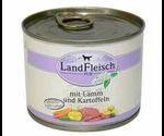 Консервы Dr.Alders (Доктор Алдерс) LandFleisch Ландфляйш Для Собак Деревенское Мясо Ягненок с Картофелем 195г