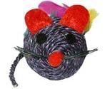 Игрушка Для Кошек Мышь с Перьями и Мятой Сизаль 6,5см Тм-2011