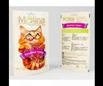 Лакомство Molina Для Кошек Кусочки Тунца 80г