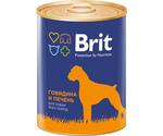 Консервы Brit (Брит) Для Собак Говядина и Печень Beef Liver 850г