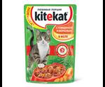 Влажный Корм Kitekat (Китекат) Для Кошек Говядина с Морковью в Желе 100г