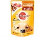 Влажный Корм Pedigree (Педигри) Vital Protection Для Собак Говядина с Ягненком 100г