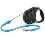 Рулетка Для Собак Мелких Пород Flexi (Флекси) Color Dots Small До 12кг Трос 5м Голубой