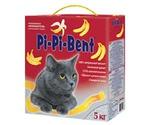 Наполнитель Pi-Pi-Bent (Пи-Пи-Бент) Комкующийся Наполнитель с Ароматом Банана Bananas 5кг Коробка (1*4)