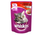 Влажный Корм Whiskas (Вискас) Для Кошек Паштет из Говядины с Печенью 85г (1*24)