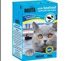 Консервы Bozita (Бозита) MINI Seafood Chunks in Sause Для Кошек Морской Коктейль Кусочки в Соусе 190г