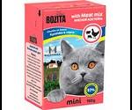 Консервы Bozita (Бозита) MINI Meat Mix Chunks in Sause Для Кошек Мясной Коктейль Кусочки в Соусе 190г