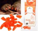Когти Накладные для Кошек Mikoo С-М7 20шт Оранжевые