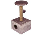 Домик Когтеточка Для Кошек Квадратный Малый 37*35*73см Darell (Дарэлл) Rp8111