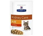 Hills (Хиллс) Prescription Diet K/D Kidney Care Лечебный Влажный Корм Для Кошек Для Поддержания Здоровья Почек Курица 85г