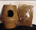 Гнездо Для Птиц Кокосовое Волокно Большое 00000099