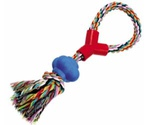 Игрушка Для Собак Dezzie (Деззи) Веревка №8 Синий Мяч Хлопок 33см 5608026