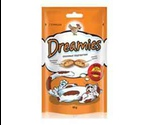 Лакомство Подушечки Dreamies (Дримс) Cat Treats with Tasty Chicken Для Кошек Курица 60г (1*6)