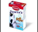 Лакоство Sanal (Санал) Denta`S Хрустящие Крокеты Для Ухода За Полостью Рта + Витамины А,D,Е  Для Кошек 75г