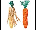 Игрушка Для Грызунов Trixie (Трикси) Морковь и Кукуруза 2шт 15см 6192