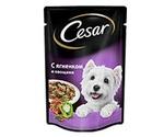 Влажный Корм Cesar (Цезарь) Для Взрослых Собак Мелких Пород с Ягненком и Овощами (Пауч) 100г