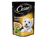 Влажный Корм Cesar (Цезарь) Для Собак Мелких Пород Курица с Овощами 100г (Пауч) (1*24)