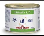 Лечебные Консервы Royal Canin (Роял Канин) Veterinary Diet Feline Urinary S/O Для Кошек При Мочекаменной Болезни с Цыпленком 195г
