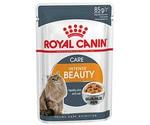 Влажный Корм Royal Canin (Роял Канин) Feline Health Nutrition Intense Beauty Jelly Для Кошек Для Поддержания Красоты Шерсти Аппетитные Кусочки в Желе 85г