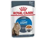 Влажный Корм Royal Canin (Роял Канин) Feline Health Nutrition Ultra Light Jelly Для Кошек При Избыточном Весе и Склонности к Полноте Аппетитные Кусочки в Желе 85г (1*12)