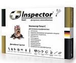 Инспектор Тотал С Капли От Внешних и Внутренних Паразитов Для Собак До 4кг Inspector I202 (1*4)