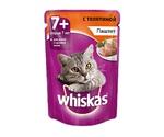 Влажный Корм Whiskas (Вискас) 8+ Для Пожилых Кошек Старше 8 Лет Мясной Паштет Из Телятины 85г (1*24)
