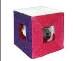 Когтеточка Куб С Мышками Тм-2052 20*20*20см Сизаль