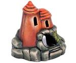 Грот Для Аквариума Замок с Круглой Крышей Гротаква 19см К-10